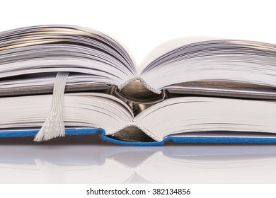 open book on white background / open book
