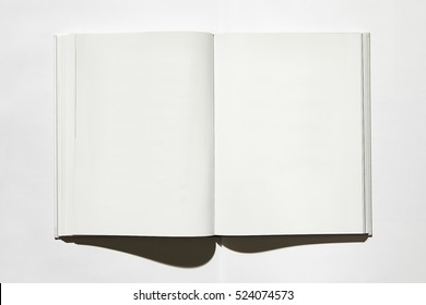 open book on white background, top.