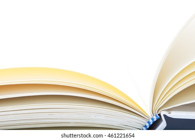 Open book as paper background and texture