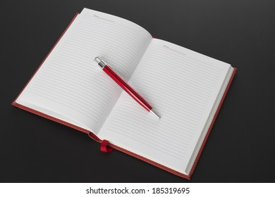 The open book and pen