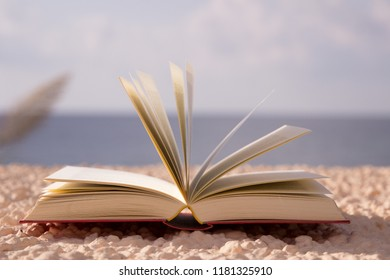 open book at the sea