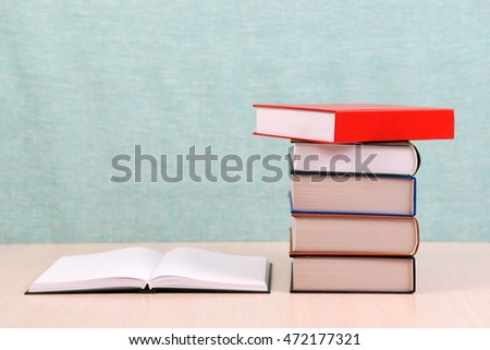 open book stack hardback books on stock photo edit now 472177321