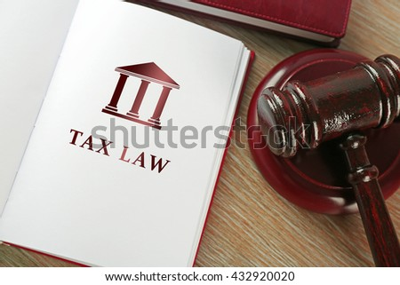 open book words tax law の写真素材 今すぐ編集 432920020