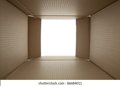 open box carton - made from photo inside