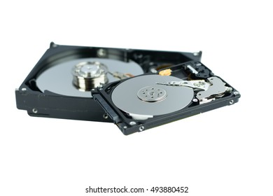 """Open the box hard disk 2.5"""" and 3.5"""" isolated on white background"""