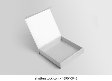 Open box template ,Mock up on gray background