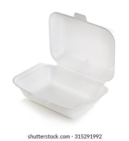 Open box white isolated