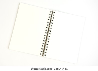 open Brown Notebook,brown eco notebook or scrapbook,Notepad  on white background