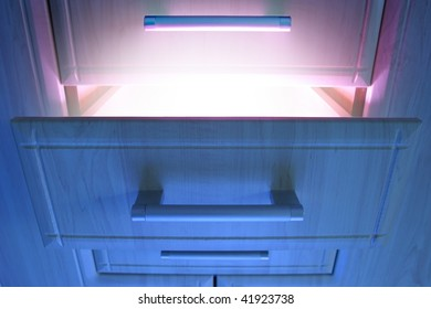 open cabinet  with magic shine