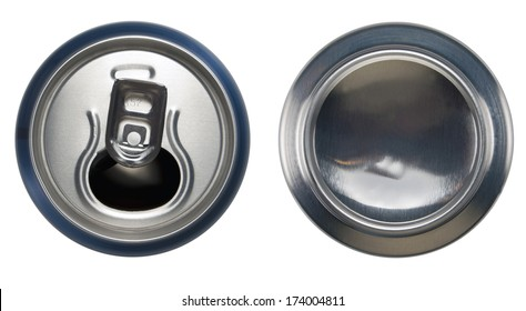 Open can and bottom can