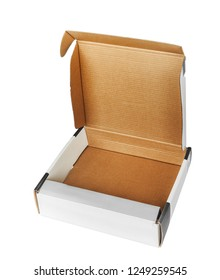 Open cardboard box; isolated