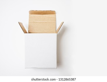 open catoon box isolated on white background.