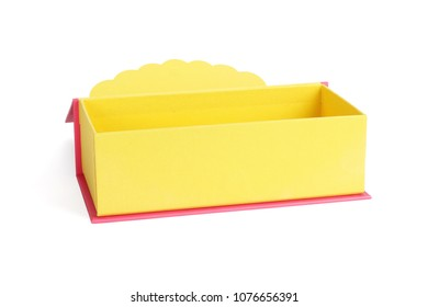 Open Chinese New Year Gift Box on White Background