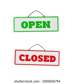 Open and close door signs