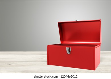 Open - closed red toolbox