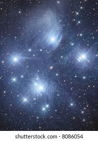 Open cluster M45 The Pleiads