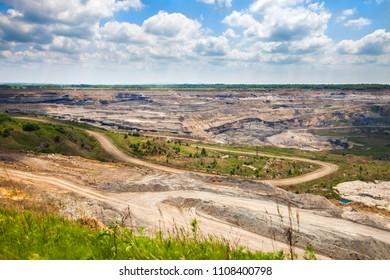 Open coal mine in Russia