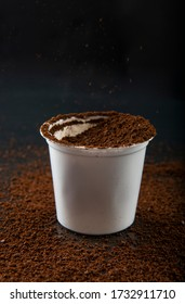open coffee k-cup explosion effect