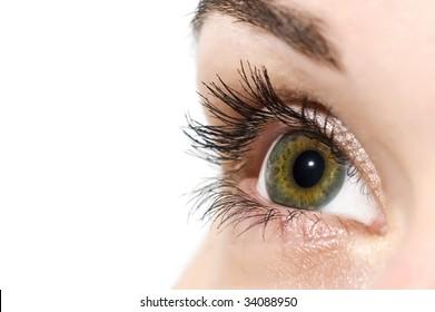 Open colorful eye
