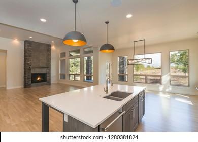 Open Concept Farm House Living Space