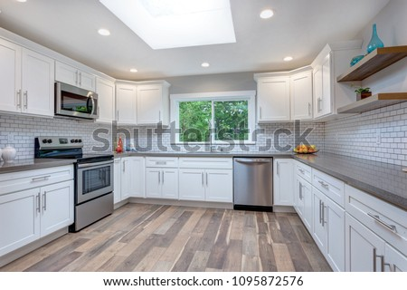 open concept kitchen cabinets open concept kitchen white cabinets grey stock photo edit 3718