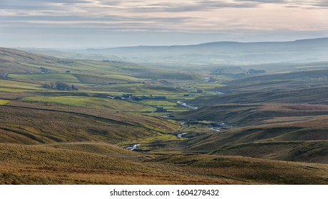 Open country at Teesdale in County Durham, England.