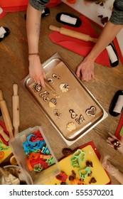 open culinary workshop. children cookies