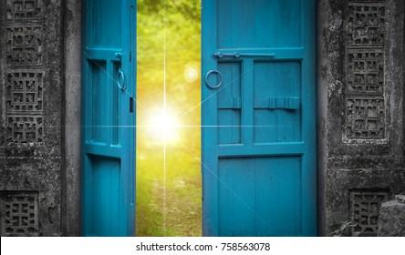 open door and heaven light
