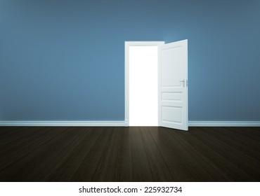 Open door isolated