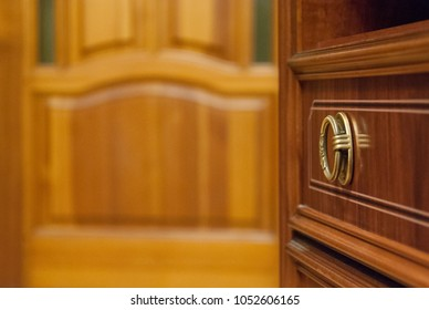 Open door leading to another door & Mahogany Door Images Stock Photos \u0026 Vectors | Shutterstock