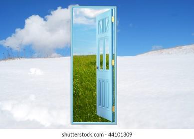 Open door New world