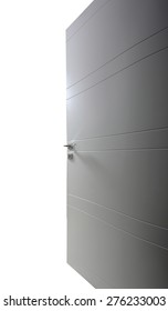 open door on white background