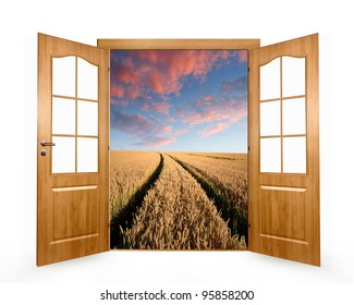 Open the door to the wheat field