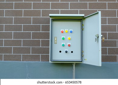 open electrical control cabinet, box control electrical system