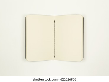 Open Empty Notebook With Blank Sheets of Paper (with clipping path)