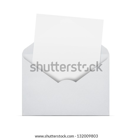 Open Envelope Blank Letter Coming Out Stock Photo Edit Now