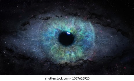 open eye in space