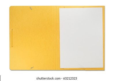 Open file isolated on white