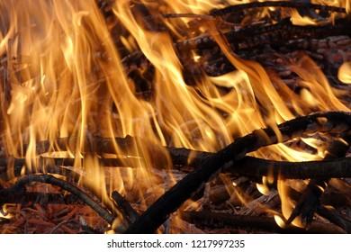 Open fire outside