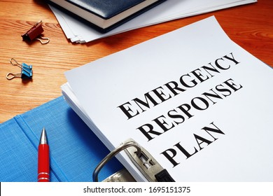 Open folder with Emergency response plan.