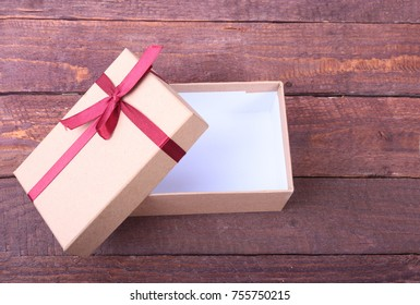 Open gift box, isolated on the white background