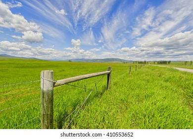 Open grasslands and big skies, Montana.