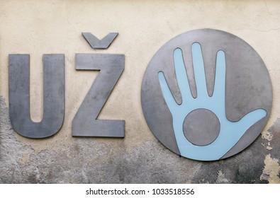 Open hand of Uzupis, Vilnius