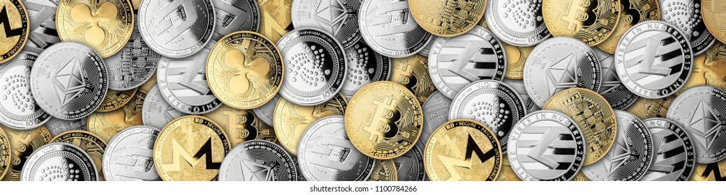 open hands of buisiness man filled with crypto currency coins isolated on white background blockchain financial business investment concept bitcoin ethereum