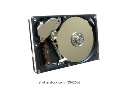 Open hdd isolated (over white)