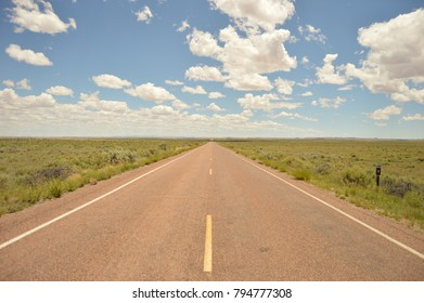 Open highway on a sunny day in Oklahoma