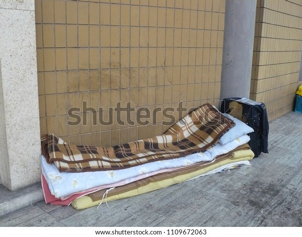 Outstanding Open Homeless Bed Stock Photo Edit Now 1109672063 Complete Home Design Collection Barbaintelli Responsecom