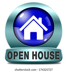 Open house sign or icon don't buy or rent a house before you visit the real estate or model house