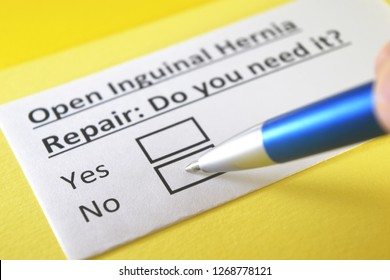 Open Inguinal Hernia Repair: do you need it? yes or no