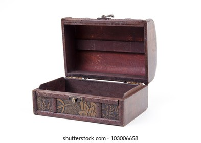 Open Jewelry Box on a white background